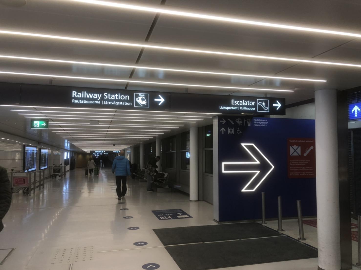 フィンランドのバンター空港内1