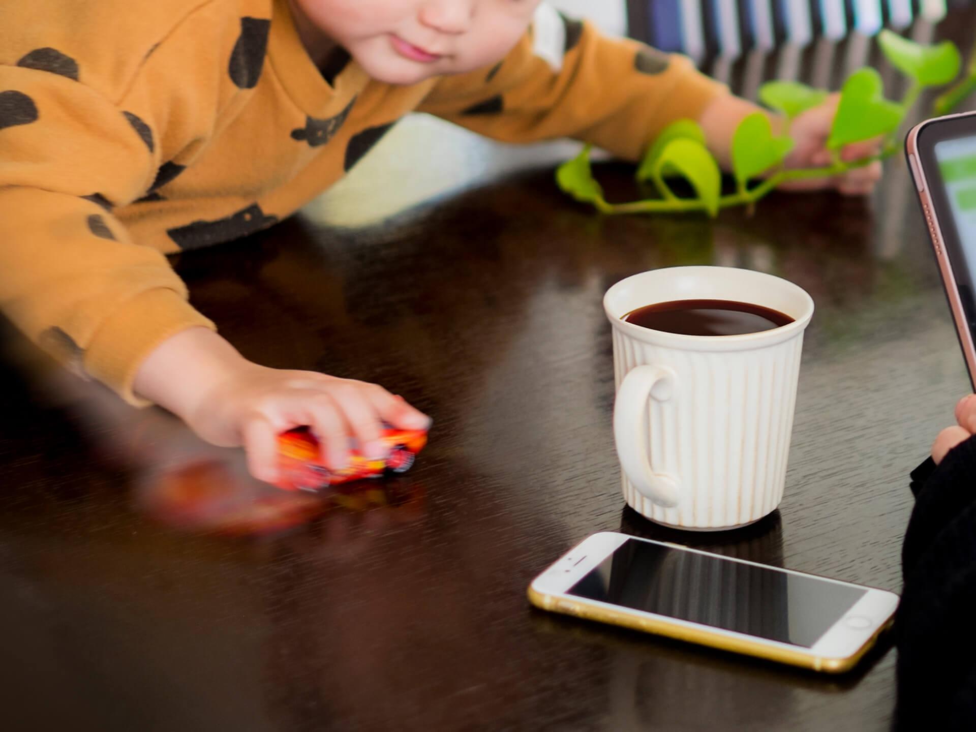 子どもとコーヒー